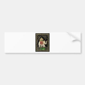 Multicolor Thread and Zari Embroidered Royal Eleph Bumper Sticker