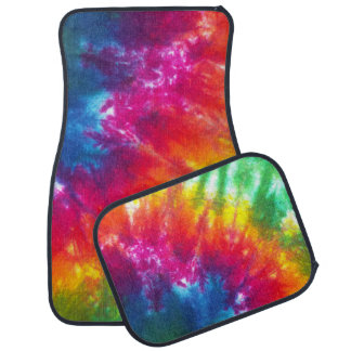 Multicolor Tie-Dye Car Mat