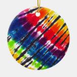 Multicolor Tie-Dye Christmas Tree Ornaments