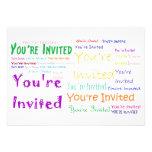 """Multicolor """"usted es"""" invitación invitada del fies"""
