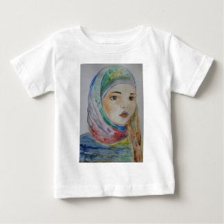 Multicolor veil, scarved girl, muslim girl, woman baby T-Shirt