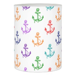 Multicolor Vintage nautical Boat Anchors Flameless Candle