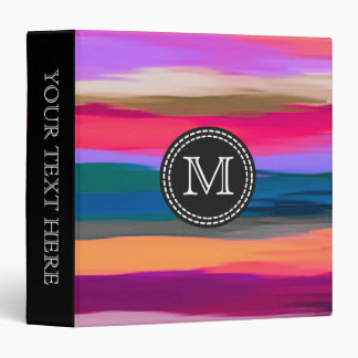 Multicolor Watercolor Abstract Pattern #2 3 Ring Binder