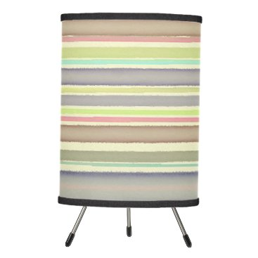 Beach Themed Multicolor watercolor stripes tripod lamp