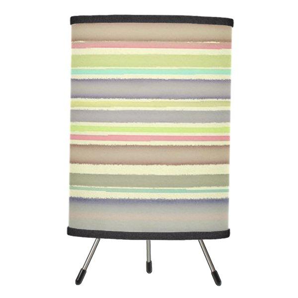 Multicolor watercolor stripes tripod lamp