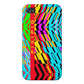 Multicolor Wave Shatter iPhone 4 Case Red Line