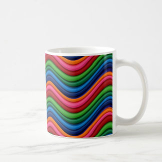 Multicolor Waves Pattern Mugs