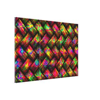 Multicolor Weave 1 Canvas Print