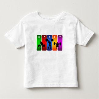 Multicolor Weight Lifting Emblem Tee Shirt