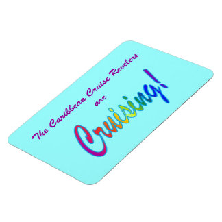 Multicolor Word Custom Stateroom Door Marker Rectangular Photo Magnet