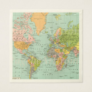 Multicolor World Map Baby Shower Collection Napkin