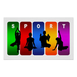Multicolor Yoga Emblem Poster