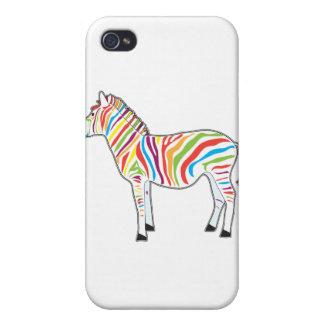 Multicolor Zebra Cases For iPhone 4