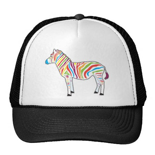 Multicolor Zebra Trucker Hat