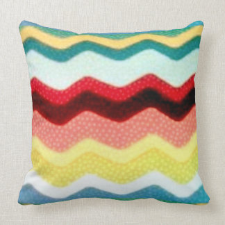Multicolor Zigzags Throw Pillow