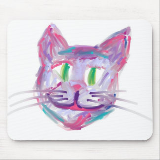 multicolorcatface mouse pad