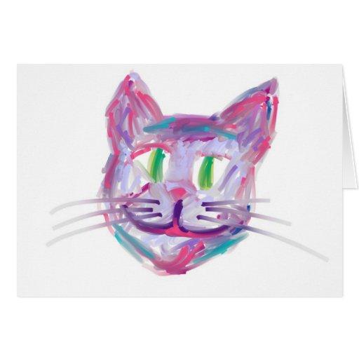 multicolorcatface tarjeta de felicitación