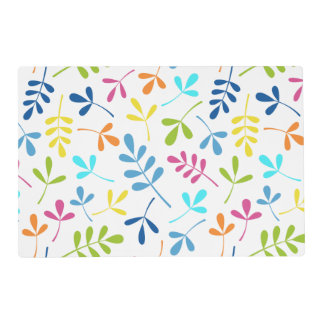 Multicolored 2Way Assorted Leaves Pattern Placemat