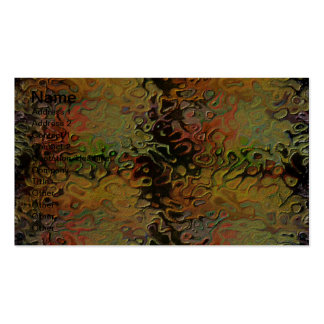 Multicolored 3d Effects Business Card