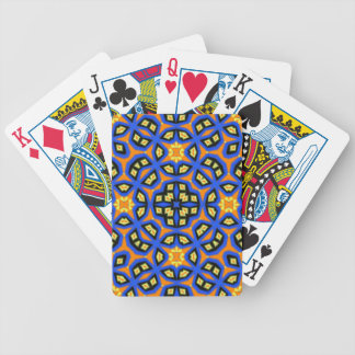 Multicolored abstract art bicycle playing cards