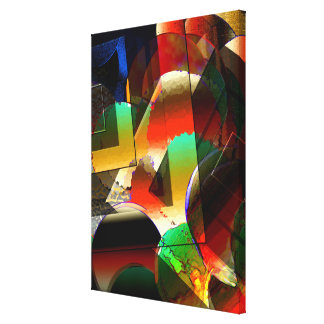 Multicolored Abstract Art on Canvas Print
