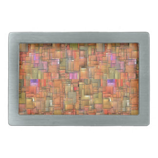 Multicolored Abstract Background. Colorful Pattern Belt Buckles