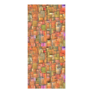 Multicolored Abstract Background. Colorful Pattern Rack Card