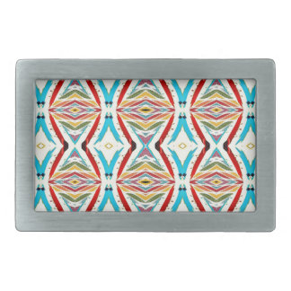 Multicolored Abstract Chains. Geometric Pattern Belt Buckle