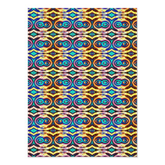 Multicolored Abstract Chains. Geometric Pattern Card