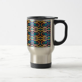 Multicolored Abstract Chains. Geometric Pattern Travel Mug