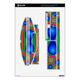 Multicolored abstract circle pattern skins for the PS3