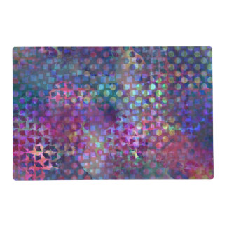 Multicolored Abstract Digital Art Placemat