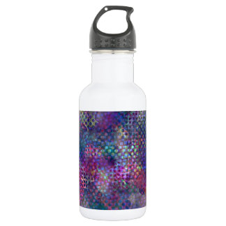 Multicolored Abstract Digital Art Water Bottle