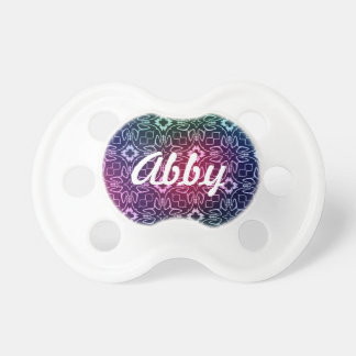 Multicolored Abstract Floral Pattern BooginHead Pacifier