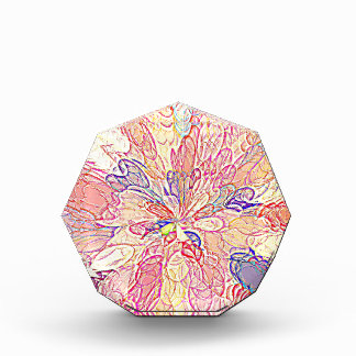 Multicolored Abstract Flower Design Acrylic Award