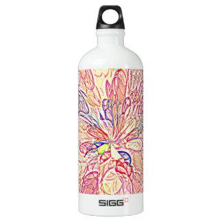 Multicolored Abstract Flower Design SIGG Traveler 1.0L Water Bottle