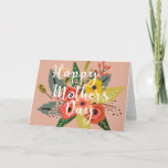 Multicolored Abstract Flower Mother's Day Card