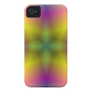 Multicolored abstract flower pattern iPhone 4 cover