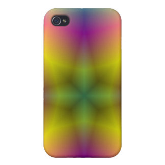 Multicolored abstract flower pattern iPhone 4/4S covers