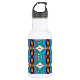 Multicolored Abstract Flowers. Elegant Design 18oz Water Bottle