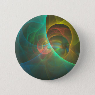 Multicolored abstract fractal button