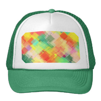 Multicolored Abstract Geometric Pattern Trucker Hat