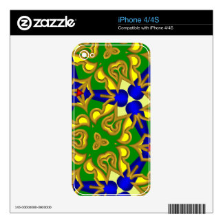 Multicolored Abstract Kaleidoscope Decals For iPhone 4