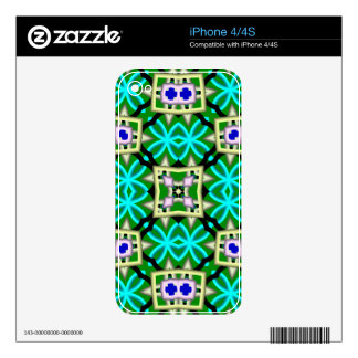 Multicolored Abstract Kaleidoscope iPhone 4 Decals