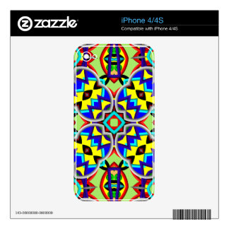 Multicolored Abstract Kaleidoscope pattern iPhone 4S Decal