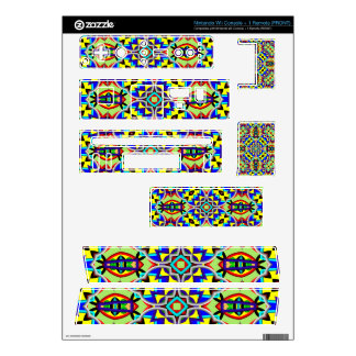 Multicolored Abstract Kaleidoscope pattern Decals For Nintendo Wii