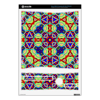 Multicolored Abstract Kaleidoscope pattern Xbox 360 S Skin