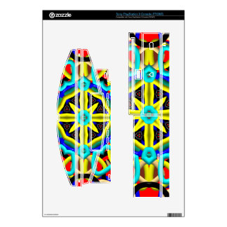 Multicolored Abstract Kaleidoscope PS3 Console Decal
