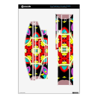 Multicolored Abstract Kaleidoscope PS3 Console Skin