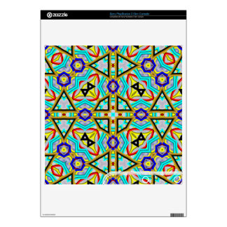Multicolored Abstract Kaleidoscope PS3 Slim Decal